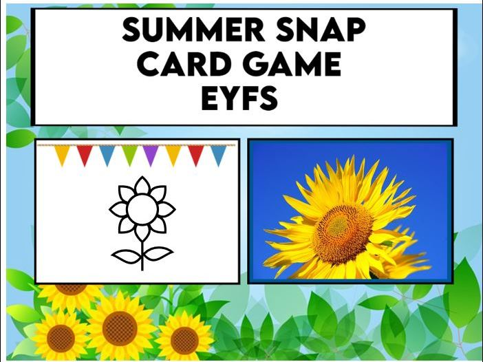 Summer Snap Card Game EYFS / KS1