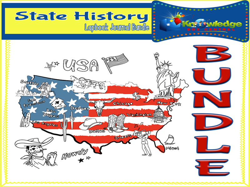 State History Lapbook Journal BUNDLE for ALL 50 STATES