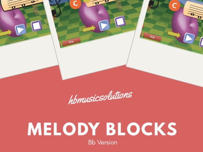 Melody Blocks in Bb Interactive Music Activity