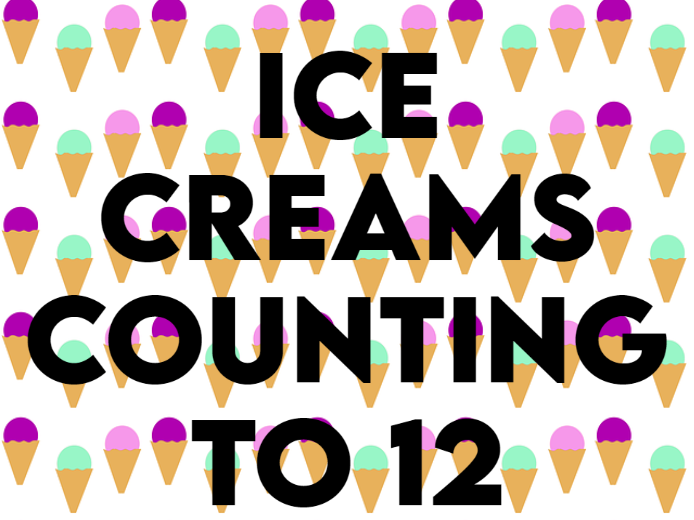 Ice Cream Counting to 12 Cards