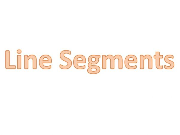 Line Segments Worksheet