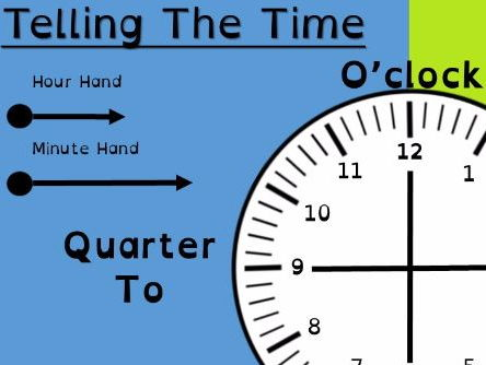 Telling the Time Clock Face, Suitable for Dyslexia and Dyscalculia