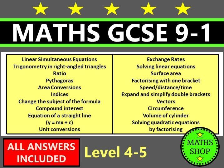 Maths GCSE 9-1 Diagnostic Tests