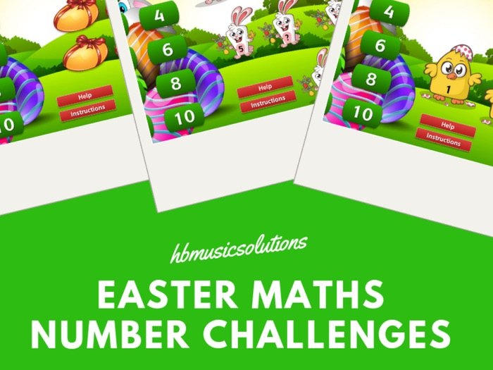 Easter Maths Number Challenge Interactive Games.