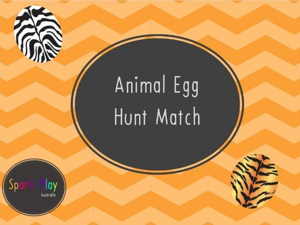 Animal Egg Hunt Match