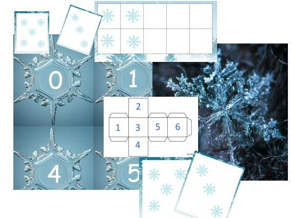 winter snow number and counting EYFS maths subitising