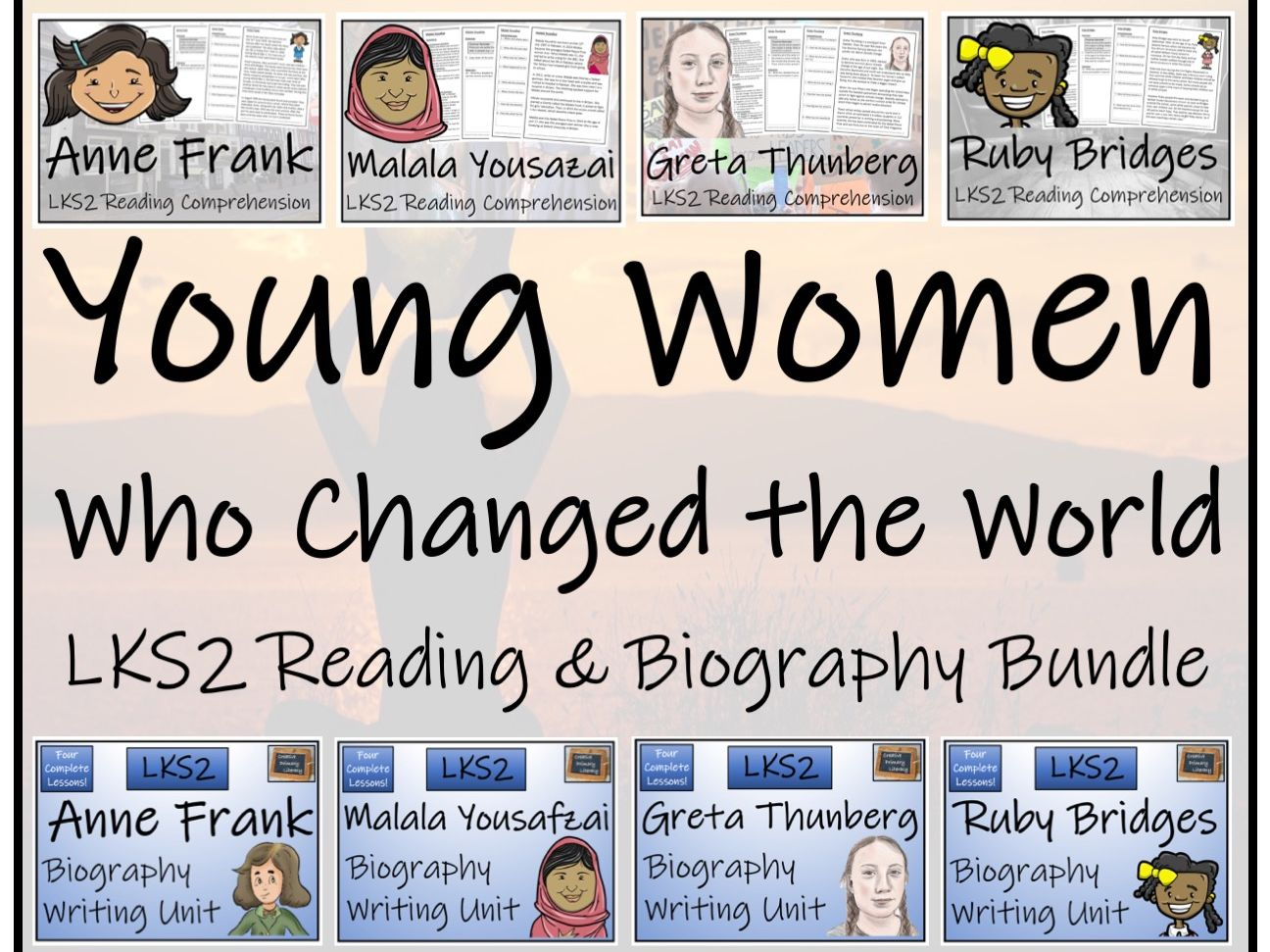 LKS2 - Young Women Who Changed the World Reading Comprehension & Biography Bundle