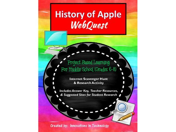 History of Apple - WebQuest / Internet Scavenger Hunt