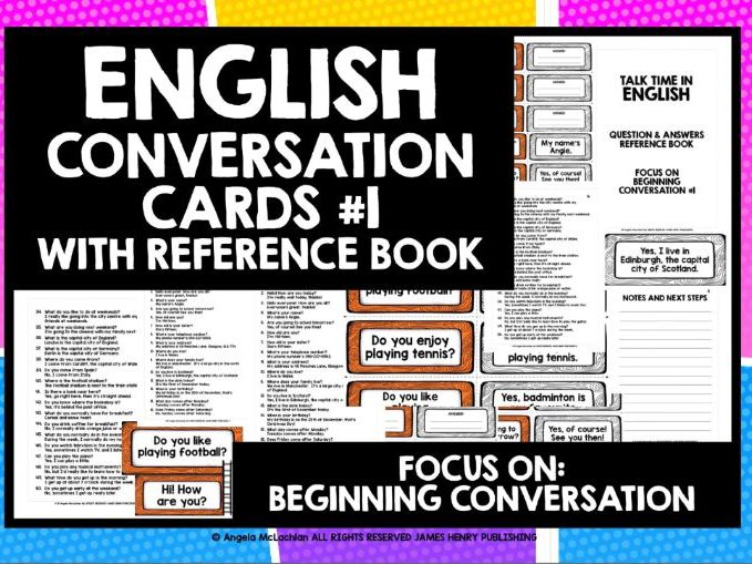 EFL ESL ENGLISH CONVERSATION CARDS #1