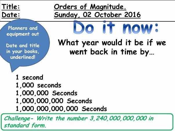 Orders of magnitude (Biology GCSE Maths skills)