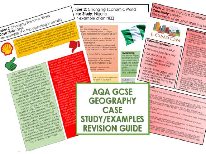 AQA GCSE Geography Case Study/Examples Revision Guide