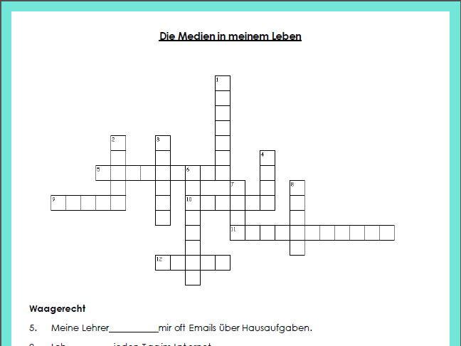 Die Medien - Crossword