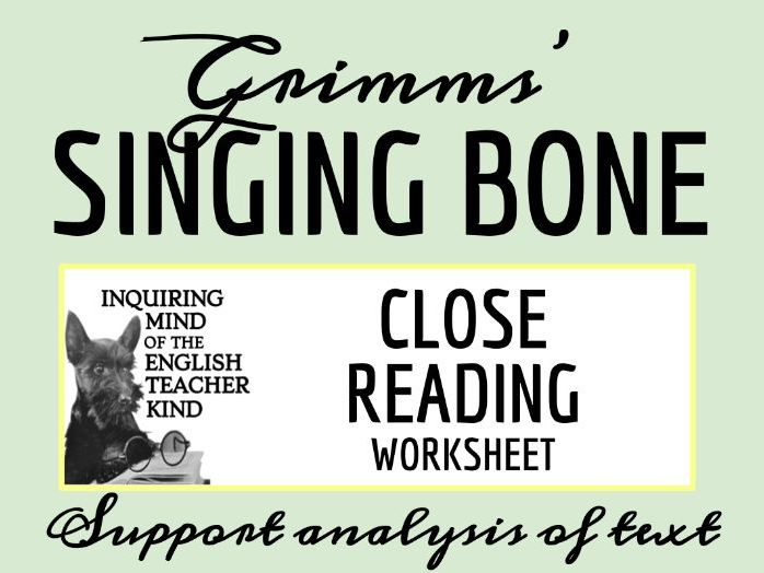 """Grimms' Fairy Tale """"The Singing Bone"""" Close Reading"""