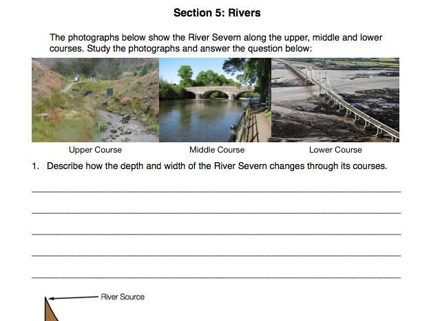 Geo Skills & Rivers Revision and Preparation Booklet