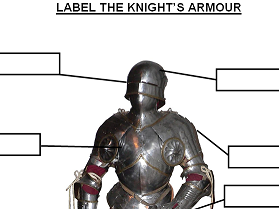 KS1 & 2 Label the Knight's armour and Label the Castle (2 worksheets)