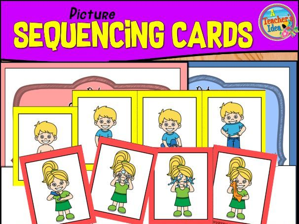 Picture Sequencing Cards for Young Learners (SET 3)