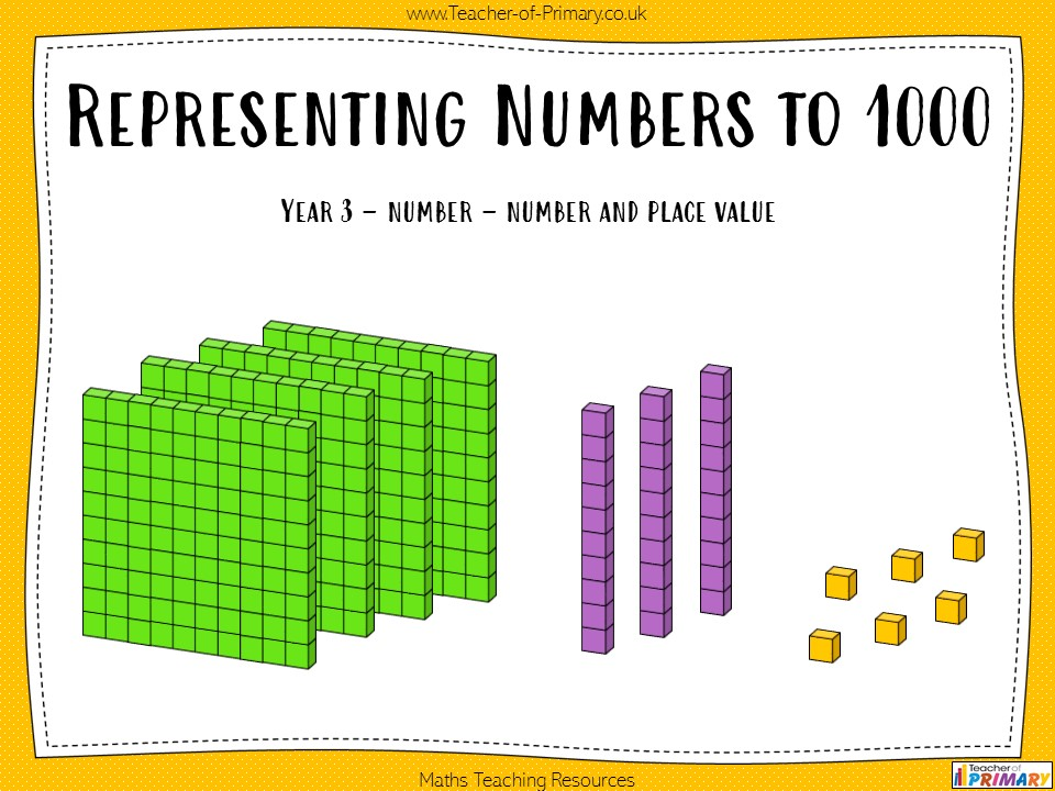 Representing Numbers to 1000 - Year 3