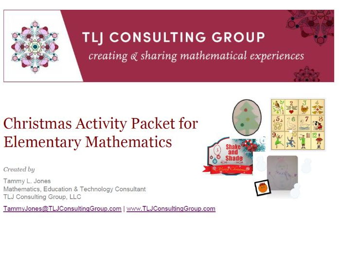Christmas Activity Packet for Elementary Mathematics