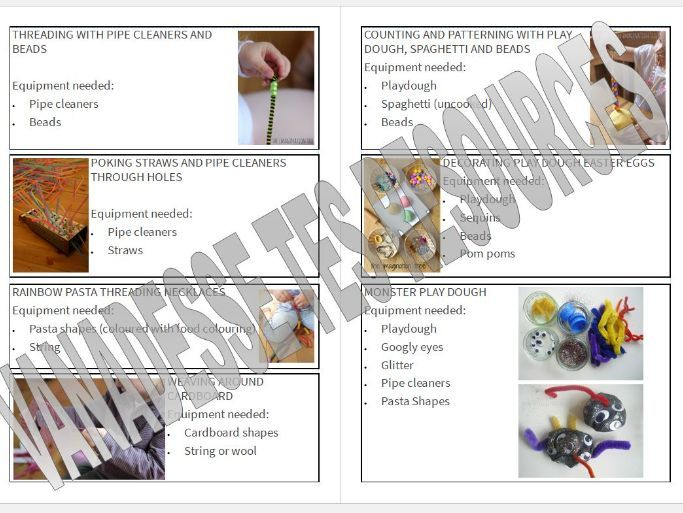 Early Years Fine Motor Skills Activities Booklet