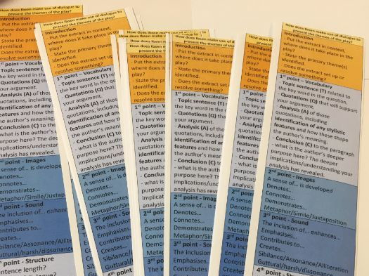 Structure Strips - A Doll's House - Essay/Extract Scaffold - Printable & Adaptable