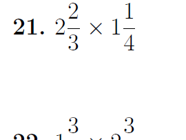 Fractions and mixed numbers worksheet no 2 (with solutions)