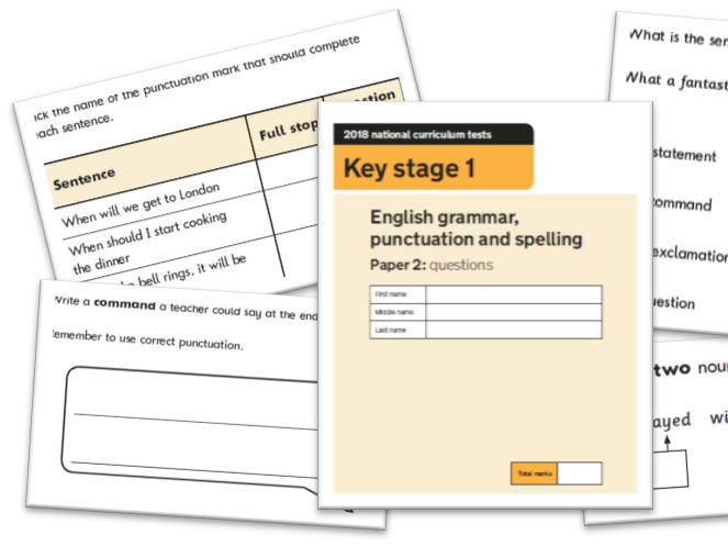 KS1 Grammar and Punctuation Question Level Analysis Tool - 2018