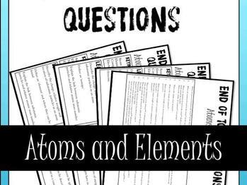 Atoms and Elements End of Topic Questions