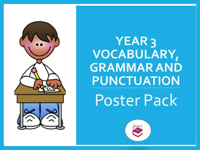 Year 3 SPAG Poster Pack