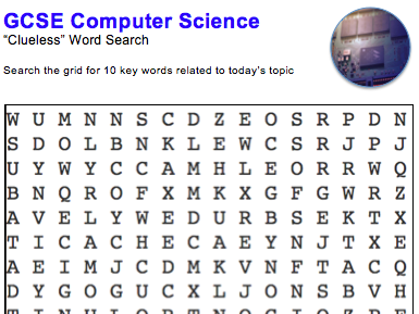 GCSE Computer Science: Word puzzle (The CPU)