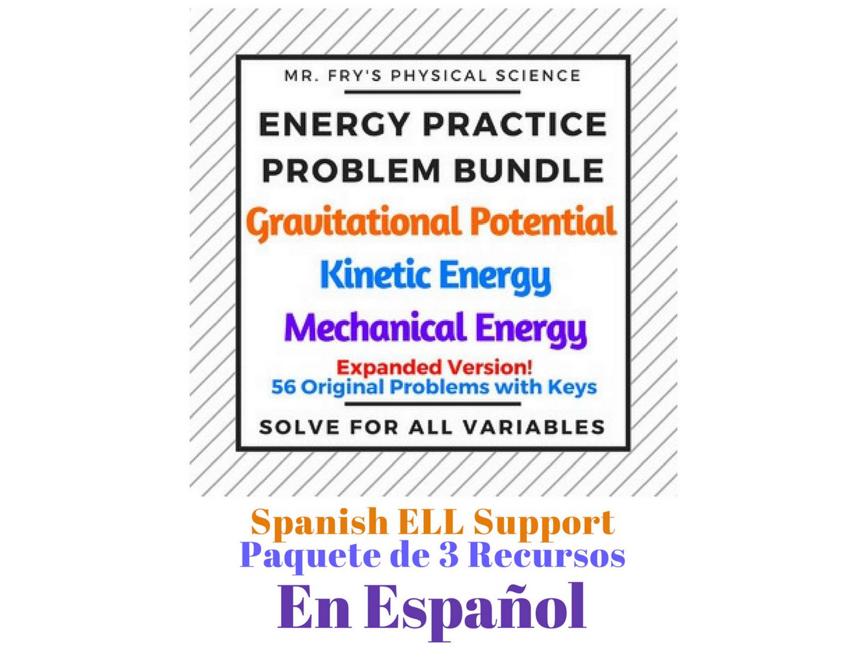 Energy Practice Problem Bundle (Spanish Version) Energía Mecánica