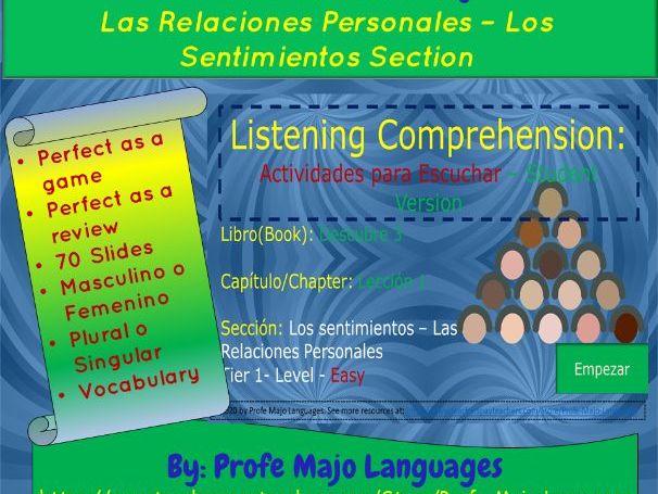 Las Relaciones Personales (B2-C1) Listening Comprehension