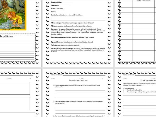 French HALLOWEEN Literature Circle Activity Booklet