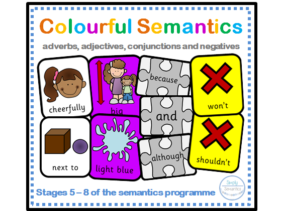 Colourful Semantics: Adverbs, Adjectives, Conjunctions and Negatives