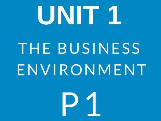 BTEC Business Level 3 Unit 1 The Business Environment P1