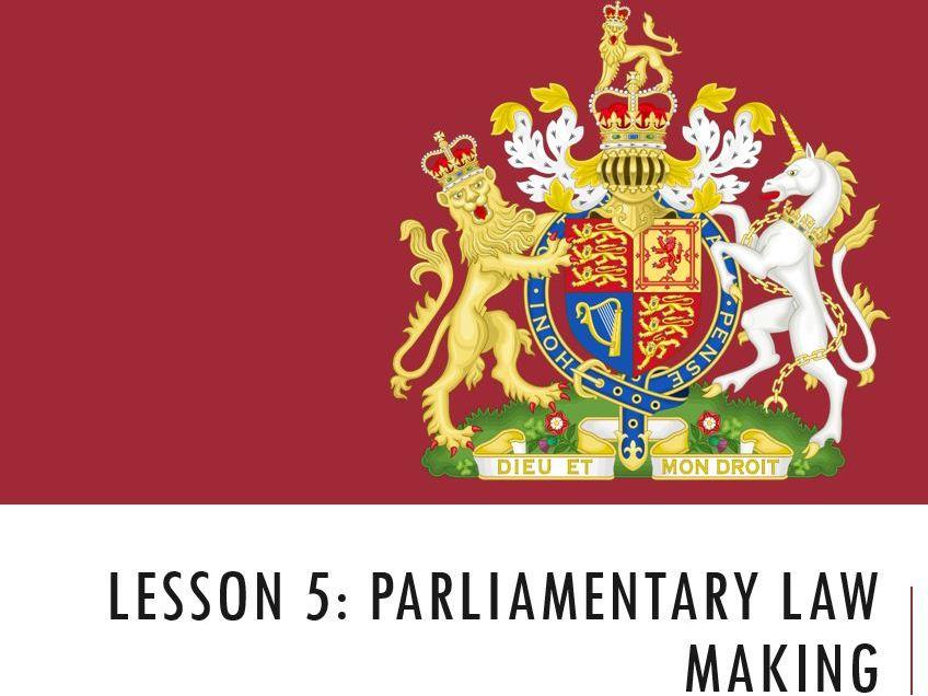 ELS - Parliamentary Law Making Lesson