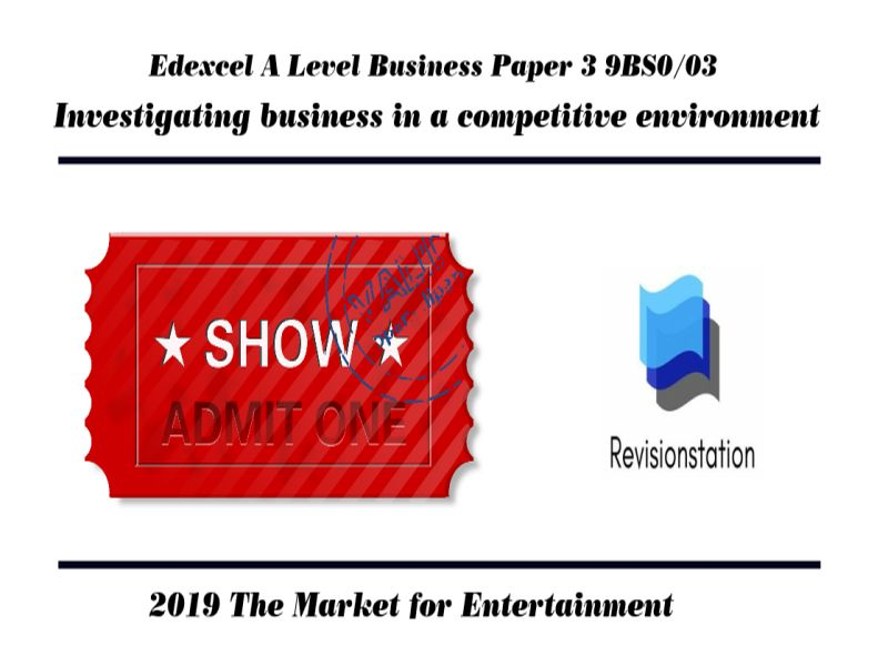 Edexcel A Level Business Paper 3 Entertainment industry Investigating Business in a competitive