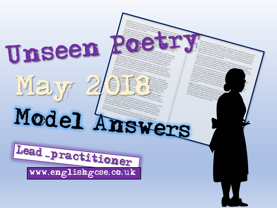 Unseen Poetry Model Answers