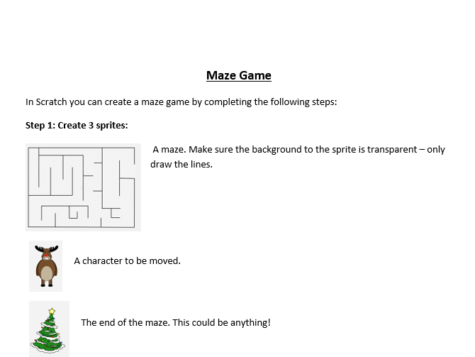 KS2 Scratch Maze game - selection and iteration