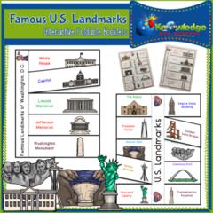 Famous U.S. Landmarks Interactive Foldable Booklets