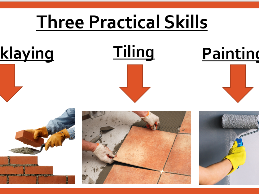 Practical Construction Skills (Bricklaying/ Tiling/ Painting)