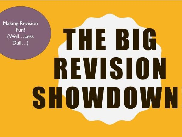 The BIG Revision Showdown -  revision fun!  games/intervention. English Language AQA Paper 1 and 2