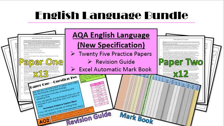 English Language: 25 Exam Practice Papers Bundle (AQA, 9-1 GCSE)