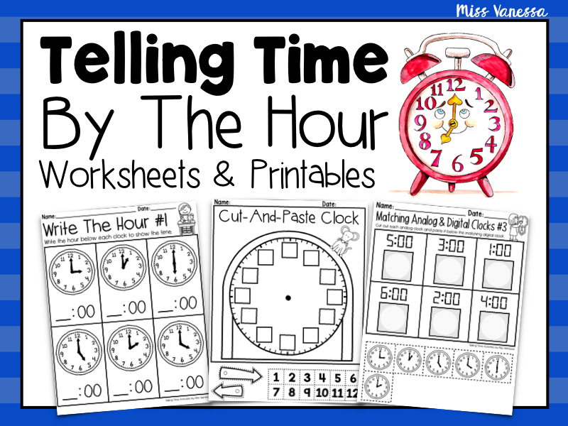 Telling Time By The Hour Worksheets