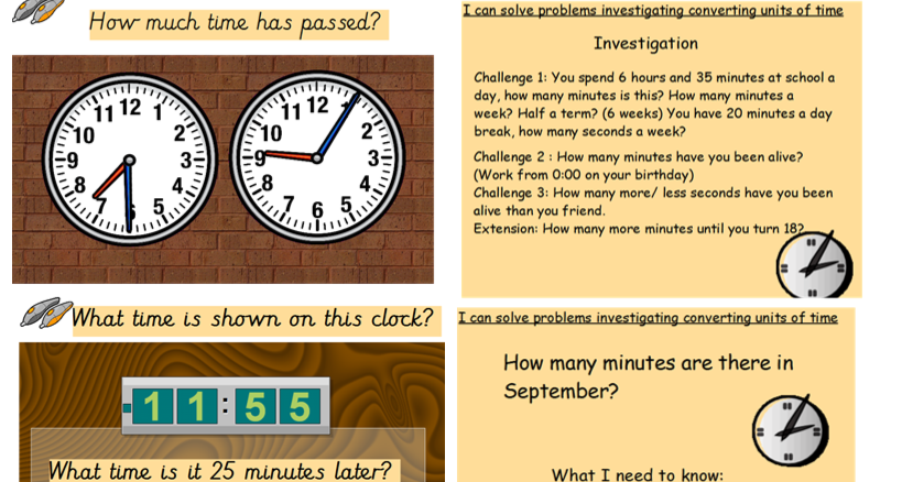 Year 6 Time Investigation Converting Units of Time