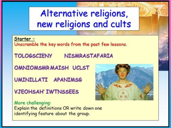Alternative Religions and Cults Assessment