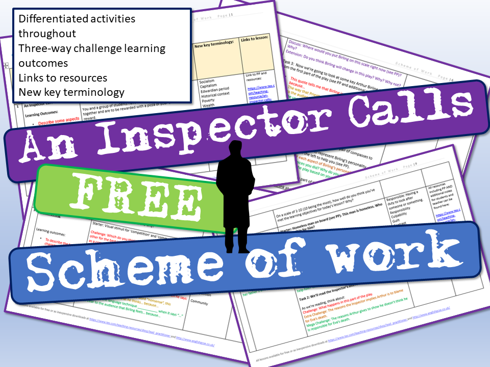 An Inspector Calls Scheme of Work