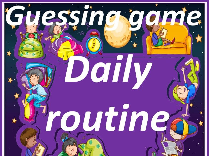 Daily routine in French. Listening game.  La journée.  Jeu d'audition.