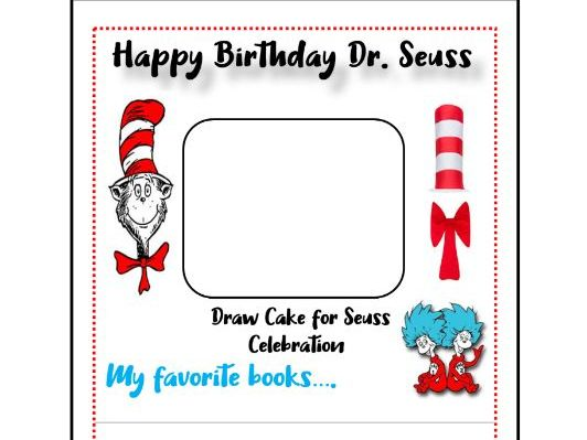 Dr.Seuss Birthday Pennant Banner Activity!