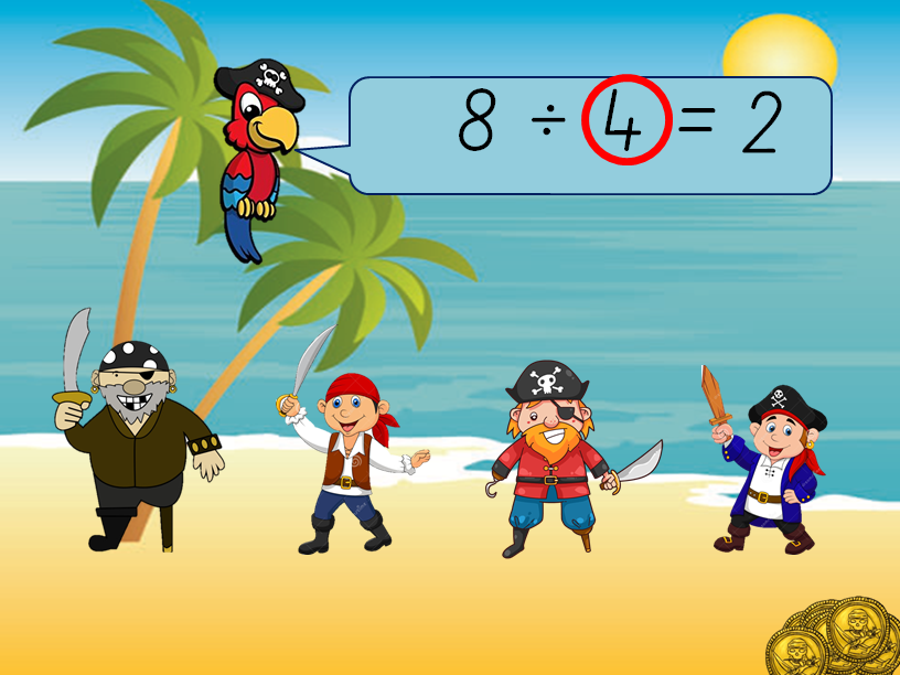 KS1 Division word problems lesson pack (pirate themed) - differentiated