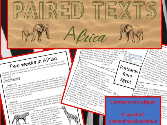 Paired Texts - Africa - Literal, Inference, Meaning and Summary questions